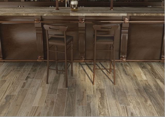 3 59sf Salvage Brown Wood Look Embossed And Registered