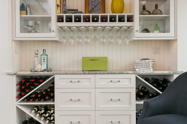 Alcove dry bar beach style home bar baltimore by for Closet dry bar ideas