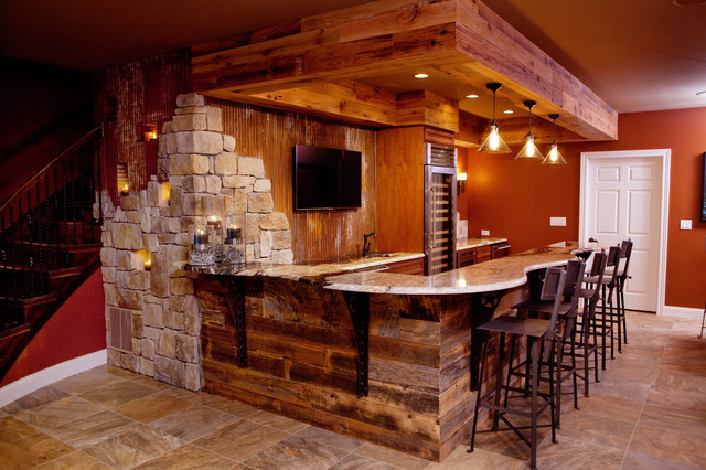 All things texan mancave rustic home bar birmingham by cindi b