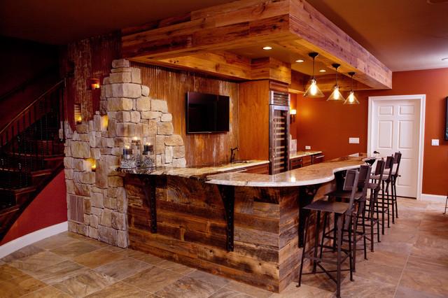 Man Cave Ideas Houzz : All things texan mancave rustic home bar birmingham