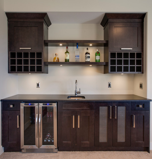 Altwasser Transitional Home Bar Vancouver By Norelco Cabinets Ltd