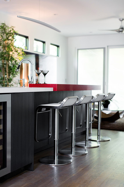 An Inspired Modern In Atlanta Contemporary Home Bar Atlanta By Cantoni