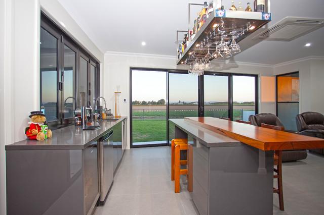 ... Angular Abode Modern Home Bar Brisbane By Tempus Design