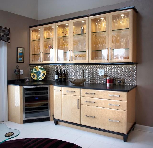 Art Deco Design Transitional Home Bar Chicago By Landmark
