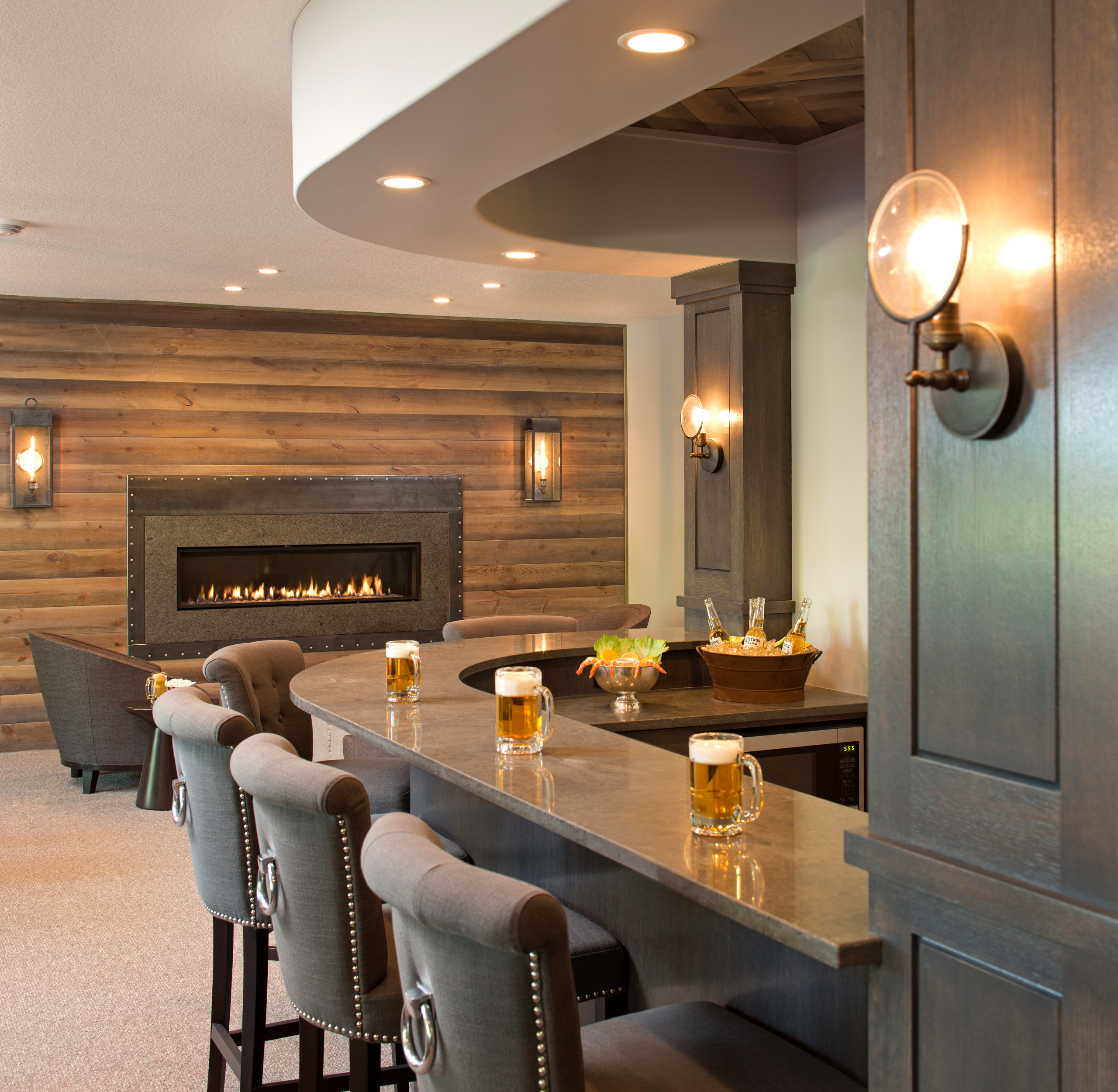 75 Beautiful Home Bar With Solid Surface Countertops Pictures Ideas January 2021 Houzz