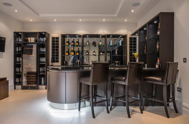 Aster bar moderno bar en casa cheshire de hart woods for Bares modernos para casas