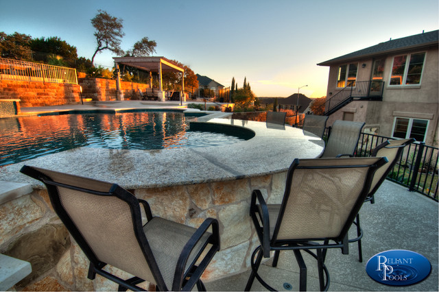 Austin River Place Swimming Pool Contemporary Home Bar Austin By Reliant Pools
