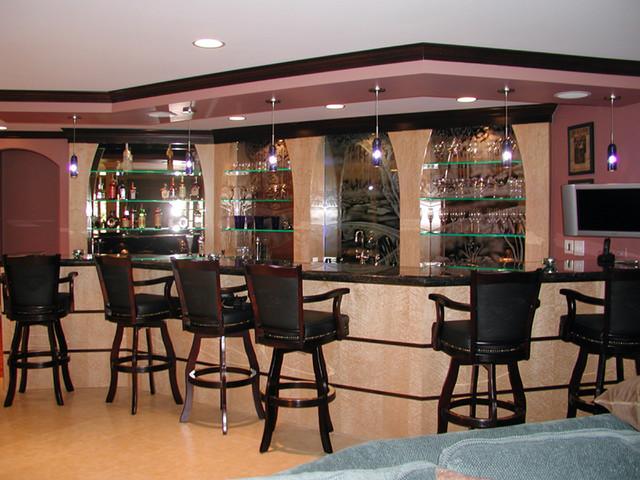 Award winning entertainment bar contemporary home for Entertainment bar for home