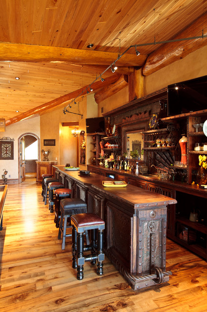 Awesome Log Cabin Rustic Home Bar Dallas By