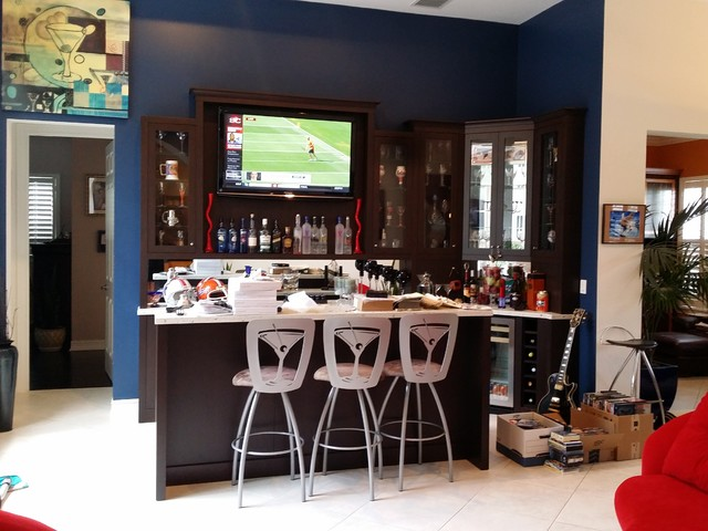 baldwin park kitchen playroom and bar moderno angolo. Black Bedroom Furniture Sets. Home Design Ideas