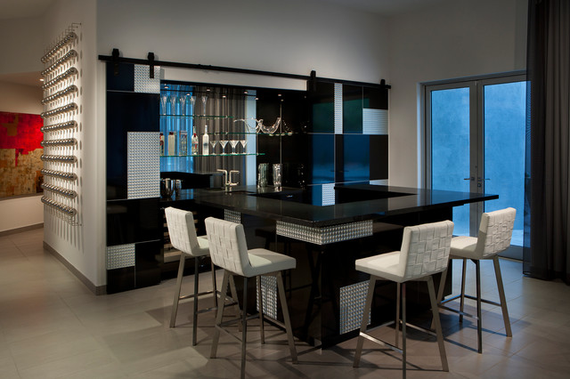Bar contemporary home bar phoenix by angelica Residential bar design ideas
