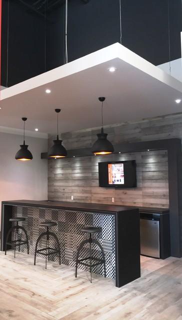 bar area eclectic home bar toronto by sarana tile