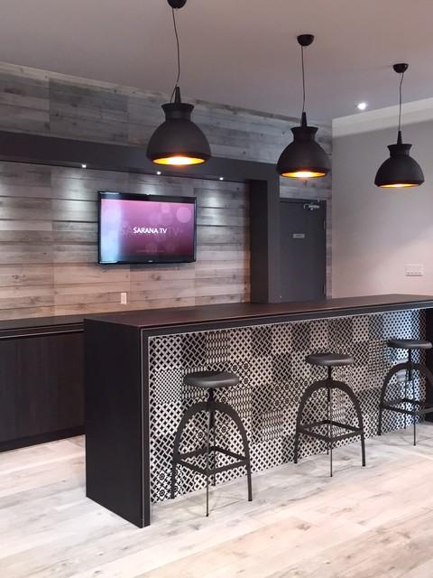 bar area contemporary home bar toronto by sarana tile