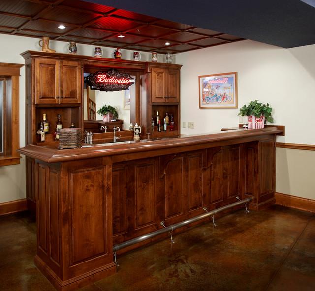 Bar Cabinets Custom Wood Products Traditional Home Bar Kansas City By Custom Wood