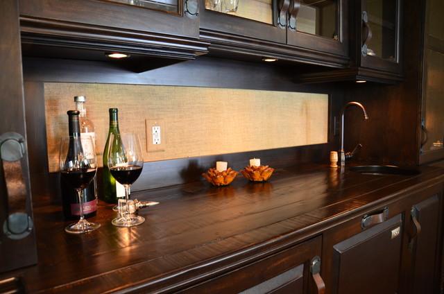 bar design , custom design built in eclectic-living-room