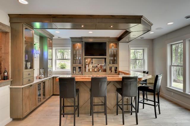Bar - Transitional - Home Bar - Minneapolis - by Divine Custom Homes