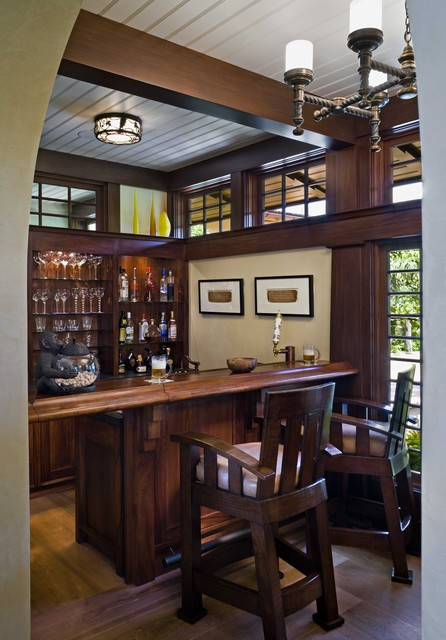 Bar tropical wine cellar