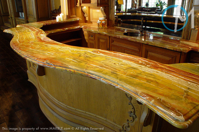 Bar Top Diaspro Onyx Marble Com Contemporary Home