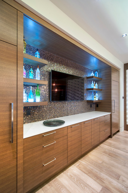 Barker Contemporary Home Bar Vancouver By Old World Kitchens Custom Cabinets
