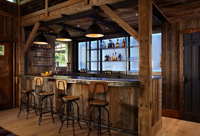 Home Bar Design Ideas Houzz: Barn And Entertainment/Music Performance Space