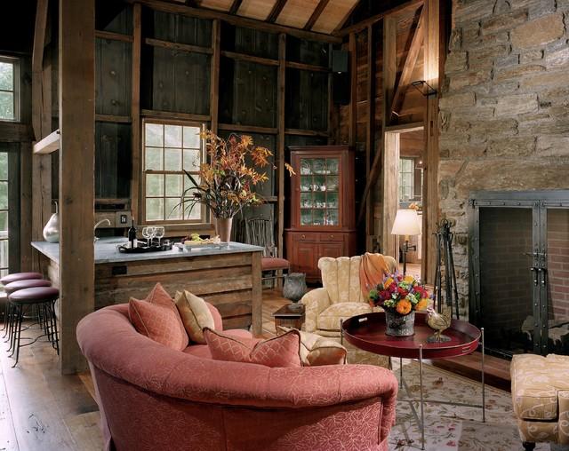 Barn Renovation - Living Room traditional-home-bar