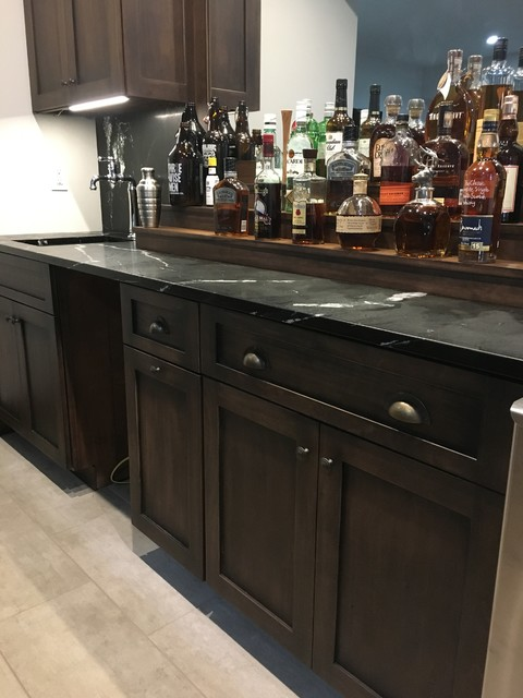 Inspiration for a home bar remodel in Indianapolis