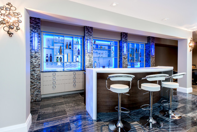 Bars Contemporary Home Bar Calgary By Redl World