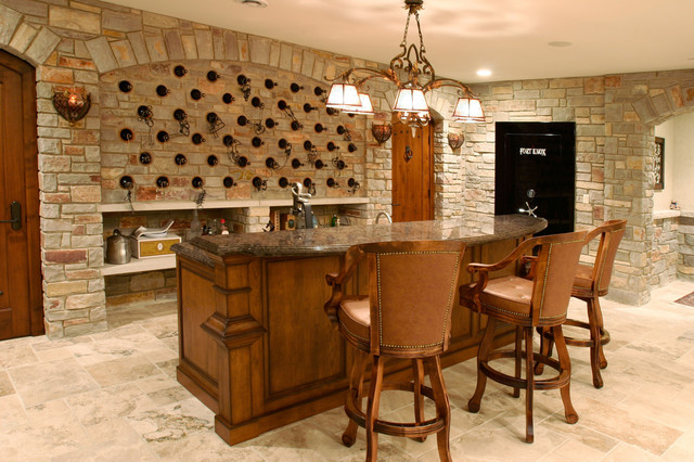 Basement Bar Traditional Home Bar Chicago By SP Group Inc