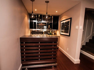 Basement Bar Contemporary Home Bar Other By The