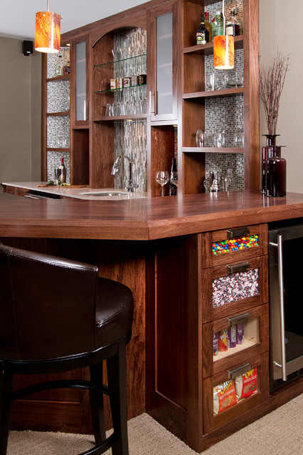 Basement remodel contemporary home bar minneapolis by sethbennphoto for Modern home bar designs pictures