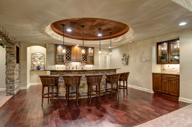 High Quality Basement Wet Bar Traditional Home Bar