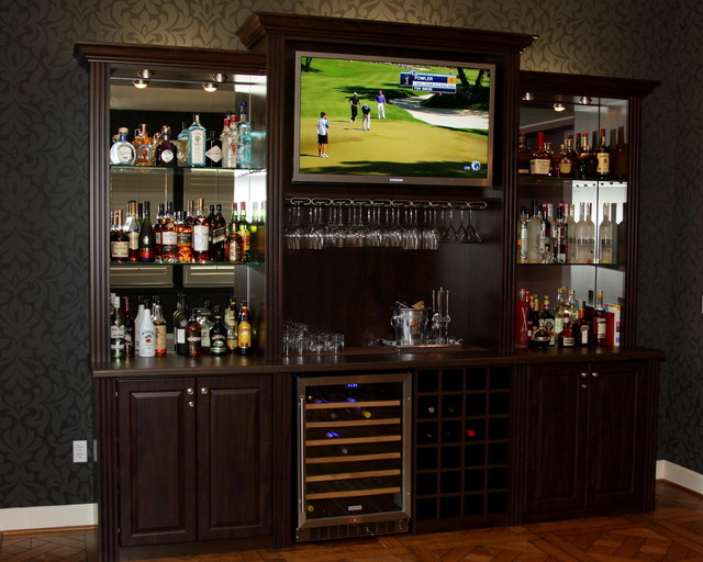 Billiard room refreshment center traditional home bar san francisco by valet custom Home bar furniture san diego