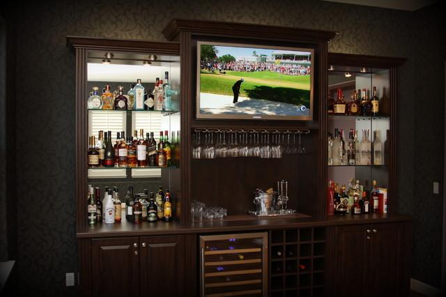 Billiard Room Refreshment Center - Traditional - Home Bar - San ...