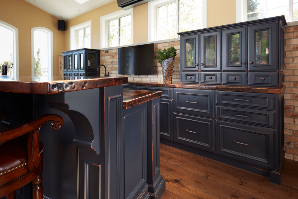 Black Distressed Basement Bar Rustic, Black Distressed Cabinets Pictures