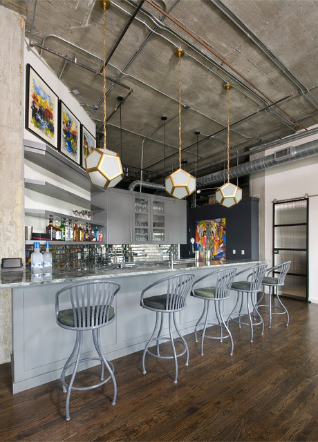 Buckhead Loft Modern Kitchen Atlanta By Woodworks