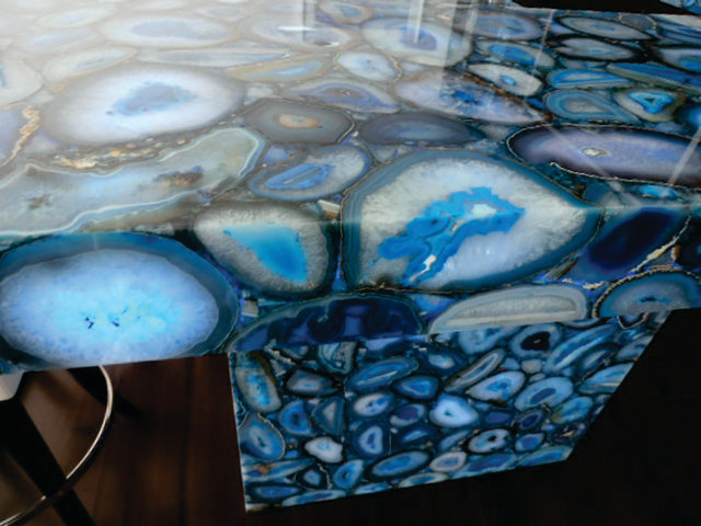 Blue Onyx Countertops : Caesarstone s concetto collection blue agate backlit with