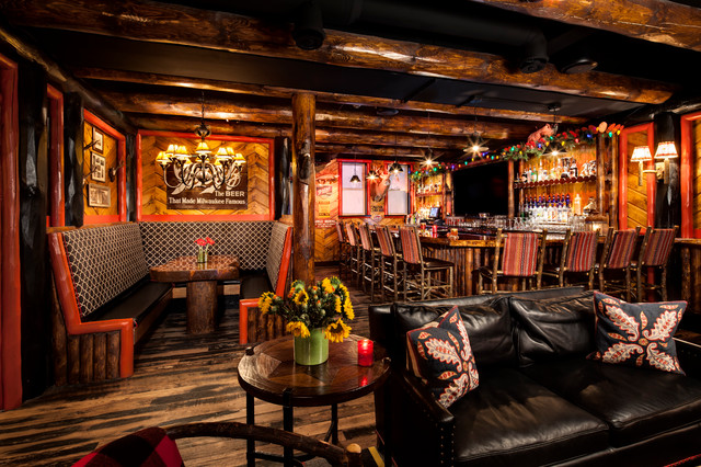 Camp Bar Rustic Home Bar Milwaukee By Peabody S