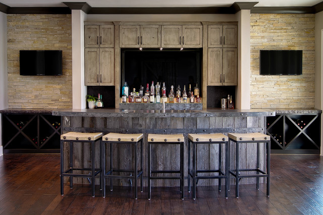 Canal Place - Rustic - Home Bar - Indianapolis - by MB Designs, LLC