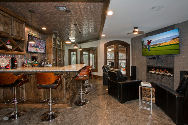 Cavalier sports bar lounge modern home bar little rock by 3wire photography - Moderne loungebar ...