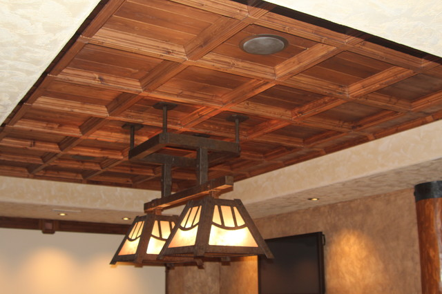 Ceiling Cloud Rustic Home Bar By Historic Timber And