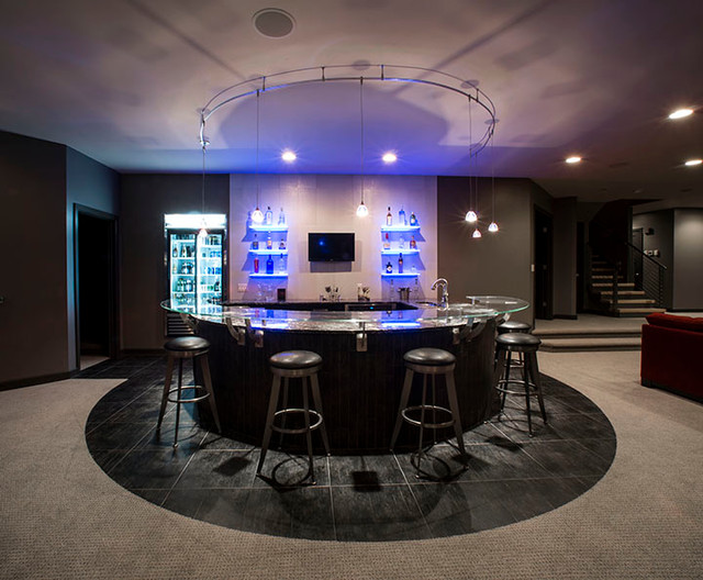 Circular Bar Contemporary Home Bar Other Metro By