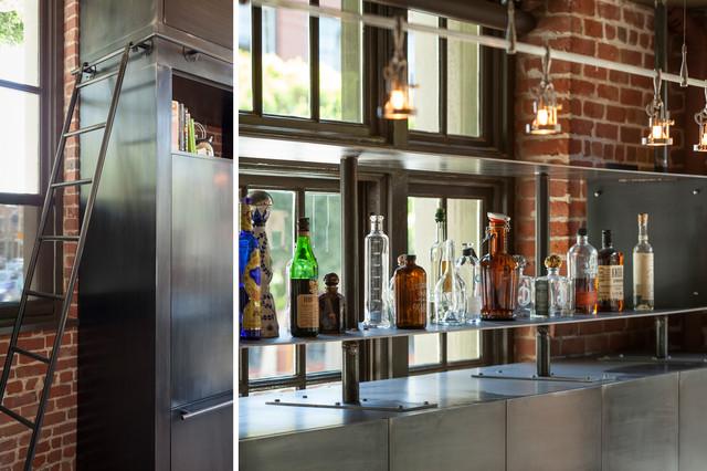 Clocktower loft industriel bar de salon san - Loft industriel muratore construction design ...