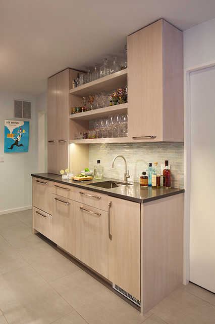 Cocktail Bar Beach Style Home Bar New York By Schryver Design Llc