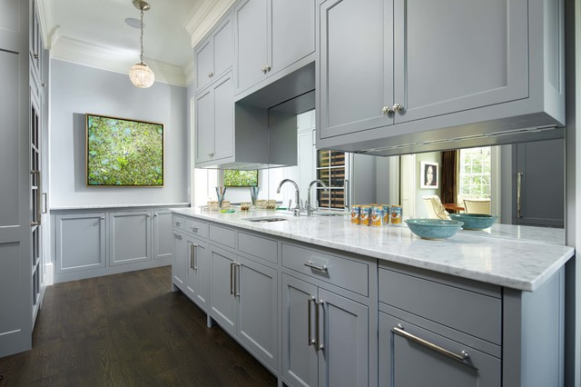 [+] Kitchen Design With Grey Cabinets And White Counter Cabinets