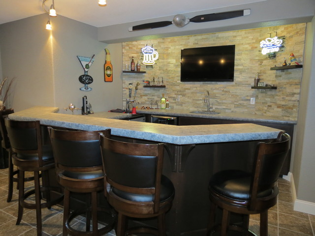 Concrete Countertops Home Bar Other Metro By