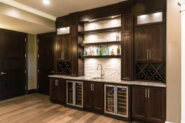 Contemporary Bar Display Contemporary Home Bar Chicago By Lustig Custom Cabinets
