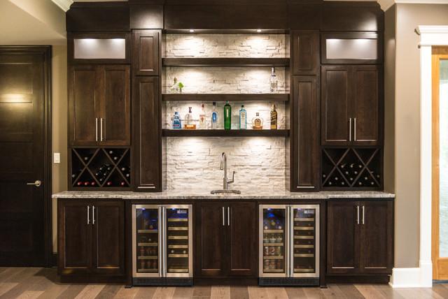 Contemporary Bar Display Contemporary Home Bar