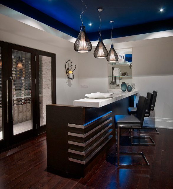 Contemporary classicism transitional home bar for Interior designs regina