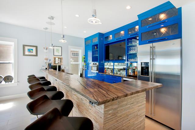 Contemporary Family Room contemporary-home-bar