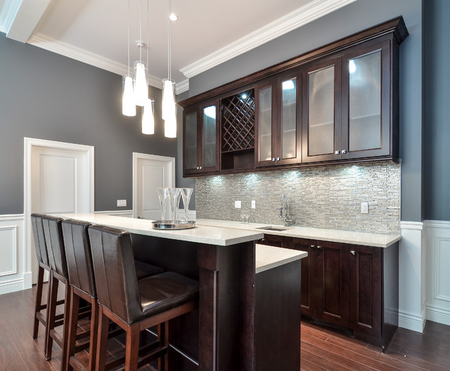 Contemporary home bar with shaker style cabinets vancouver - The benefits of contemporary bar furniture ...
